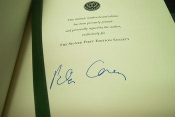 Peter Carey signed