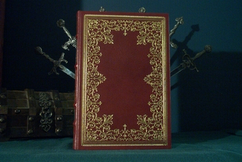 Roosevelt leather bound book