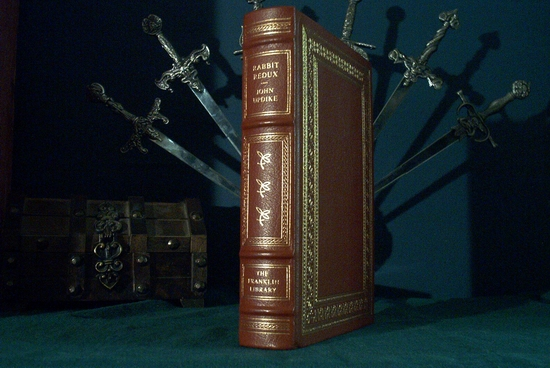 John Updike leather bound book