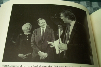 President Donald Trump and George Bush
