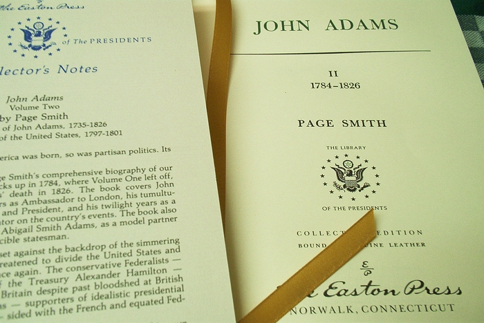 President John Adams leather bound