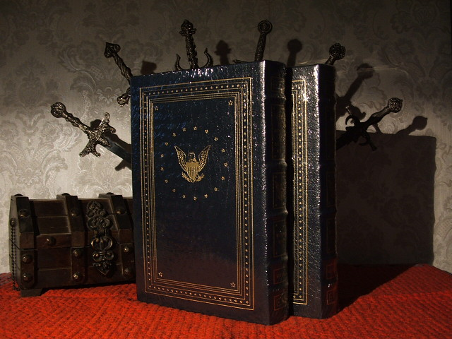 President Richard Nixon leather bound books