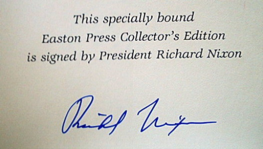 President Richard Nixon signed