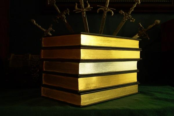 leather bound books gold gilt